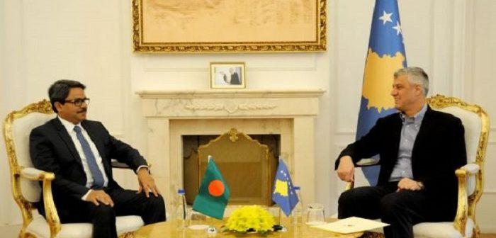 Thaçi në takimin me Shahriar Alam: Njohja nga Banladeshi ka ardhur në një kohë shumë të rëndësishme për Kosovën