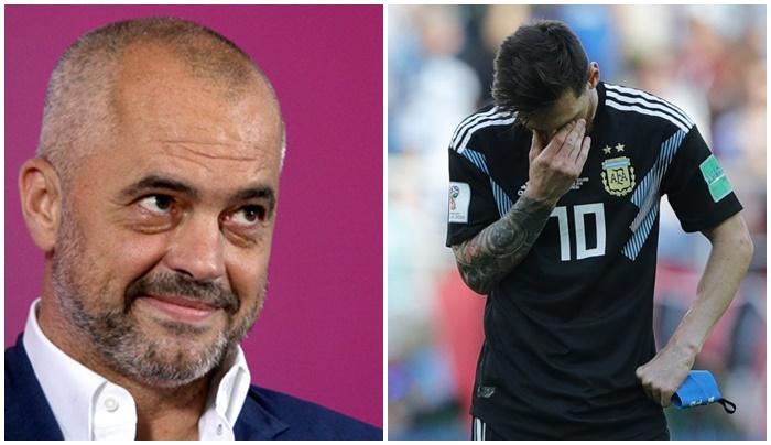 Kryeministri Edi Rama tallet keq me penalltinë e Leo Messi
